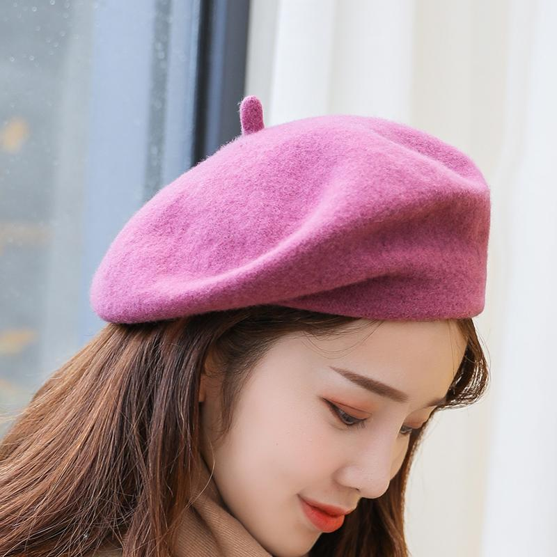 bee354081ba 2019 Women S Beret Fashion Hat Winter Beans Women S Knit Cotton Wool Hat  2018 Autumn Brand New Painter From Homejewelry