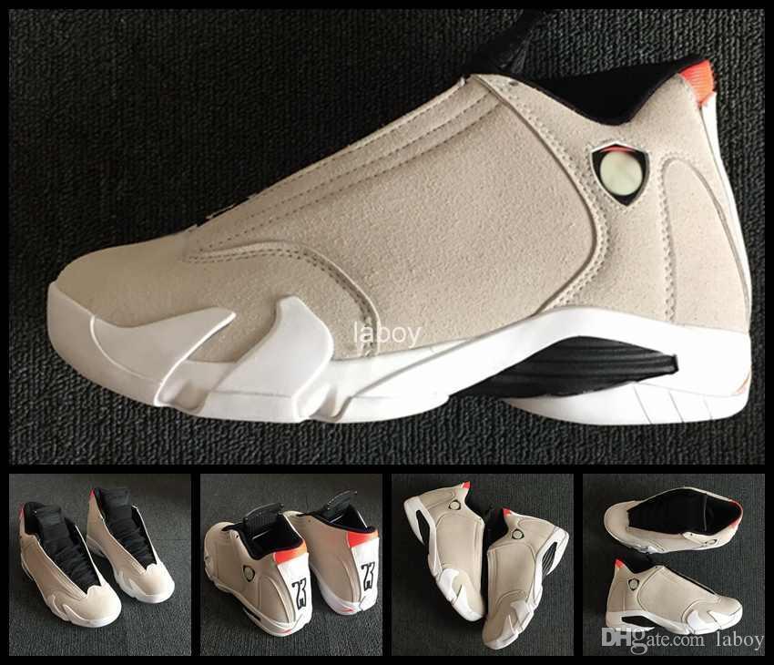 timeless design 0961a 1c6a5 Acquista 2018 New 14 Mens Scarpe Da Basket Desert Sand Candy Cane Last Shot  14s Uomo Athletic Sneakers XIV Brand Zapatos Designer Scarpe Sportive A   88.68 ...