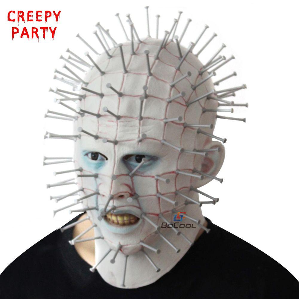 halloween mask horror movie hellraiser scary pinhead masks grimace