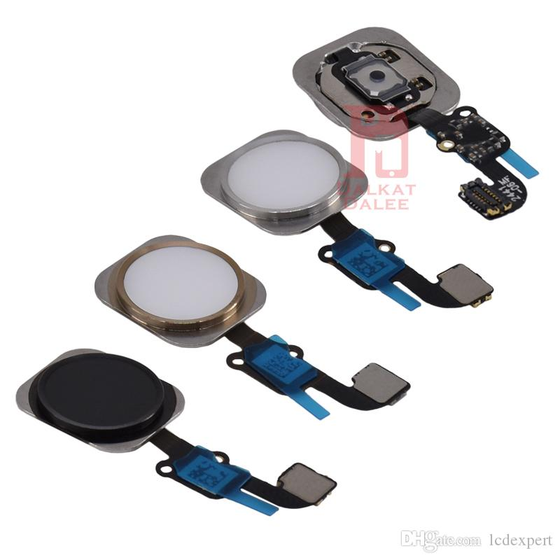 For iphone 6 LCD Repair Parts Metal Plate Front Camera Set Screws Earpiece home button Flex Full Set Repair Parts For 6G