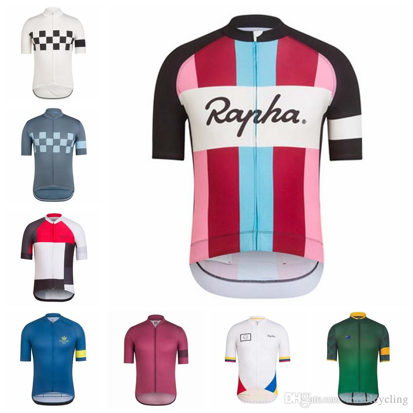 2018 Rapha Cycling Jersey Summer Team Short Sleeves Men Bike Clothing Ropa  Ciclismo Cycling Clothing Sportswear Factory Direct Sale 92115Y Long Shirts  For ... dc4a4d0bb