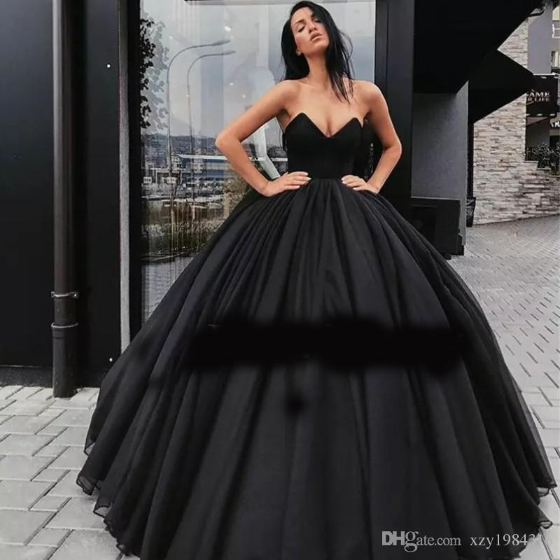 Ravishing Black Ball Gown Prom Dress Sexy V Neck