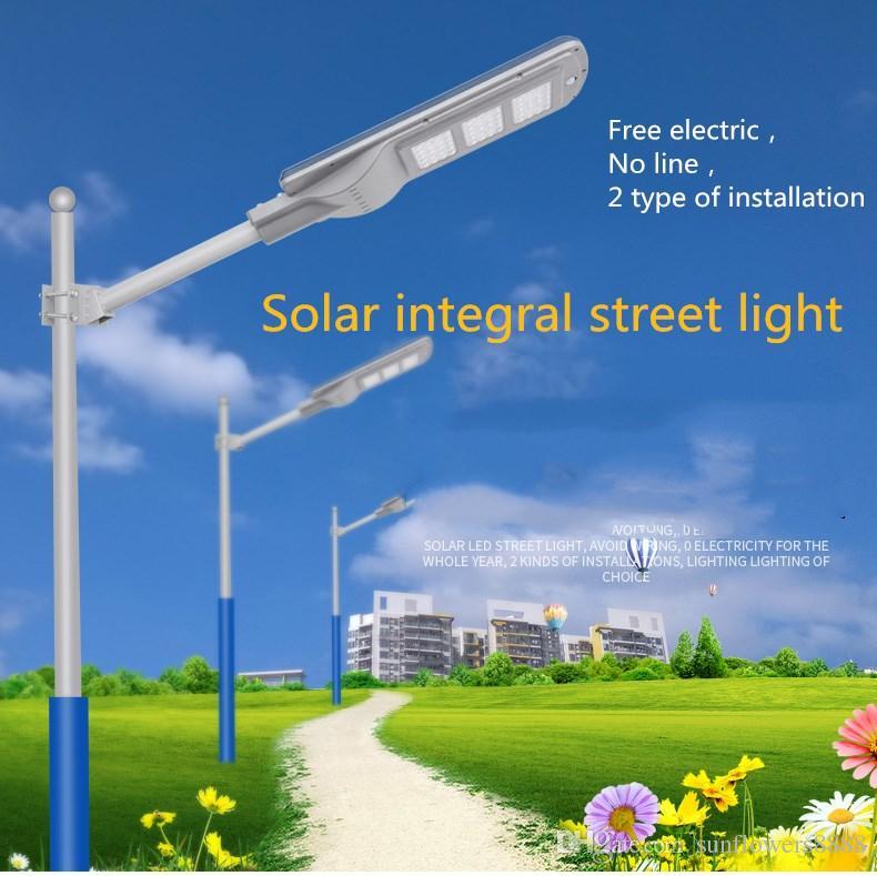 20W 40W 60W waterproof ip65 integrated all in one led solar street light price Bridge LED Light Source outdoor led solar street light