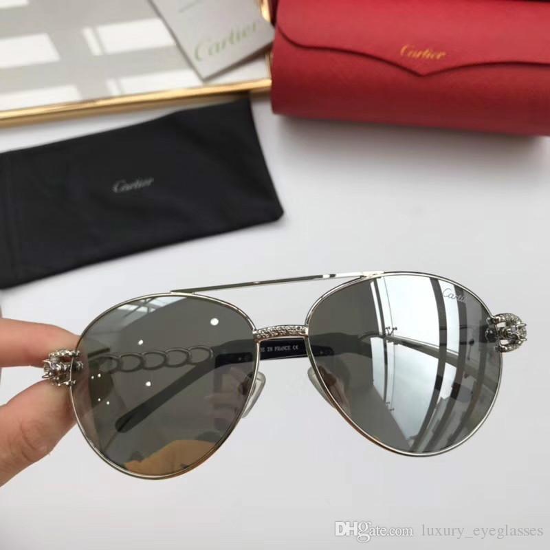 0770413de5 Luxury T8200669 Sunglasses Square Frame Metal Popular UV Protection Men  Design Sunglasses Oversized Vintage Retro Style Top Come With Case  Sunglasses At ...