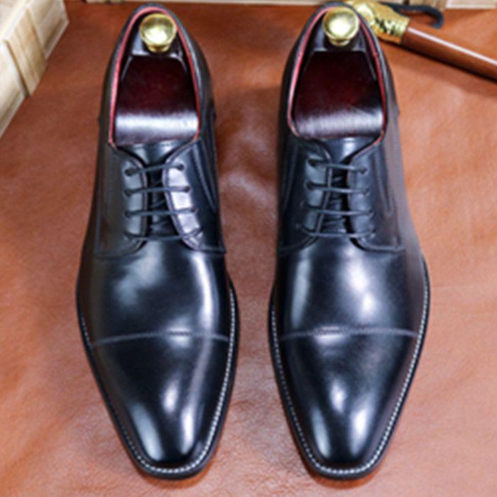 383b73368f4d 2018 Hot Sale Men Shoes Genuine Leather Black Brown Italian Fashion  Designer Business Oxford Dress Shoes For Men Wedding Shoes Non Slip Wear  Cheap Shoes ...