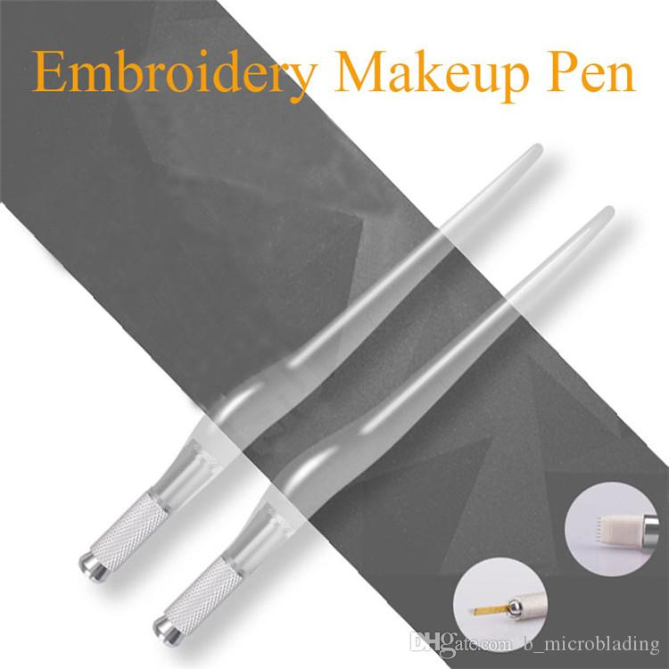 PCD Crystal Embroidery Pen With OPP Bag Cross Transparent Tattooing ...
