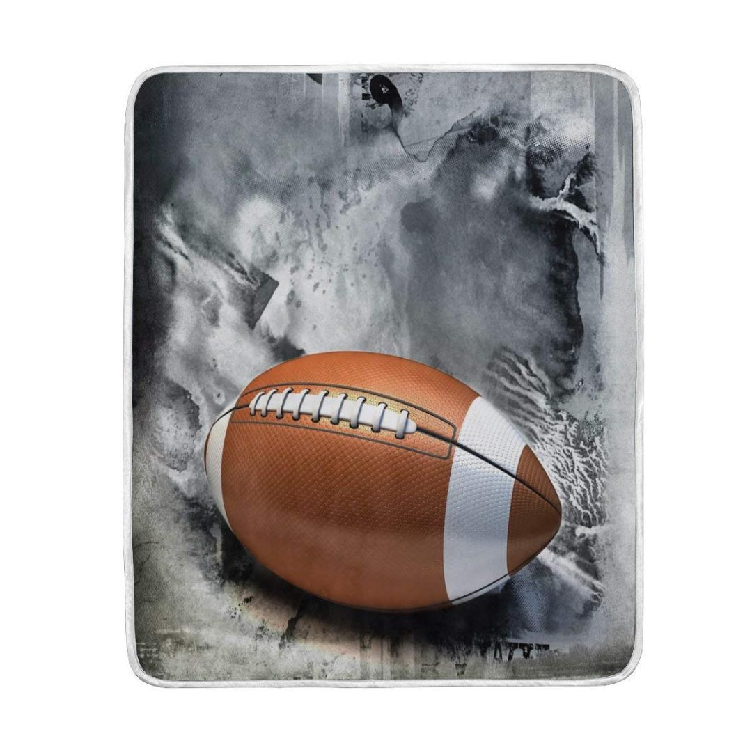 Compre Bola De Futebol Americano Cobertor Do Vintage Macio Morno Cozy Bed  Couch Leve Poliéster Microfibra Cobertor Jogue De Baolv 6caed179512ca