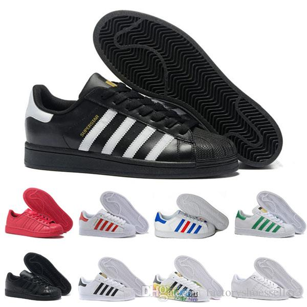 1eb90290ba9 Hot Originals Superstars Shoes Super Star Women Men Black White Gold ...