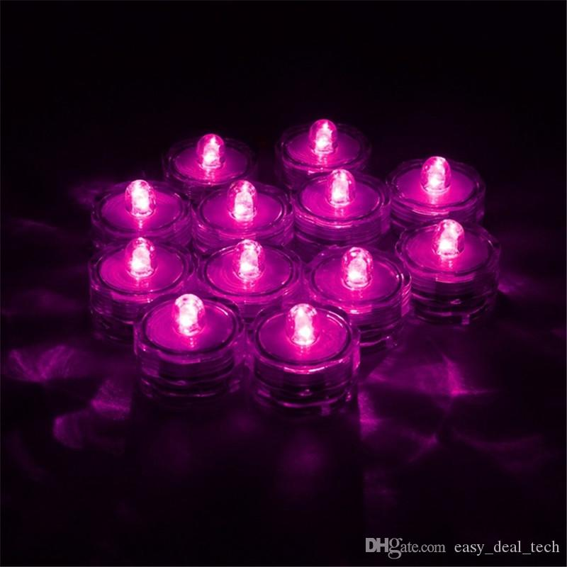 Hot Sale LED Electronic Candle Light Submersible Waterproof Tea Light Lamp For Christmas Wedding Party Decor Q0646