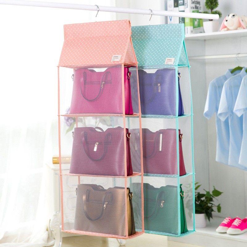 Popular Brand New 360-degree Rotation Closet Organizer Rod Hanger Handbag Storage Purse Hanging Rack Holder Hook Bag Clothing Hanger 2018 Beautiful In Colour Home Improvement
