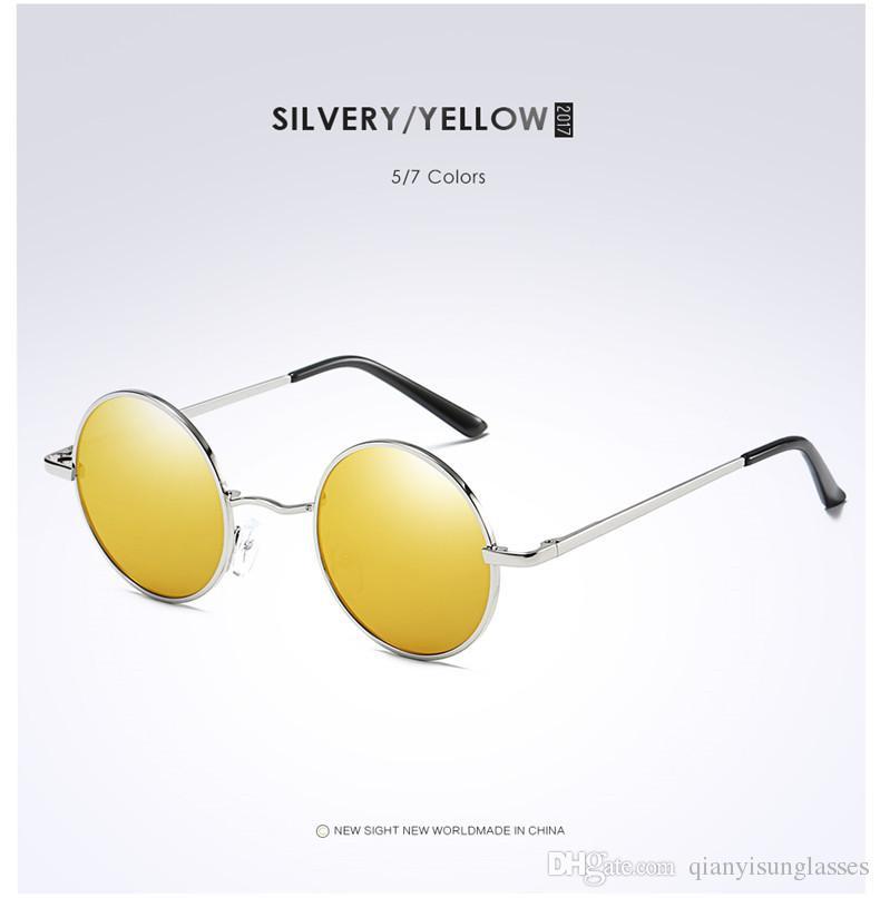 Gafas de sol redondas clásicas con montura redonda, gafas de sol polarizadas para hombre y para mujer. Gafas antiflexión Prince Mirror UV400 es
