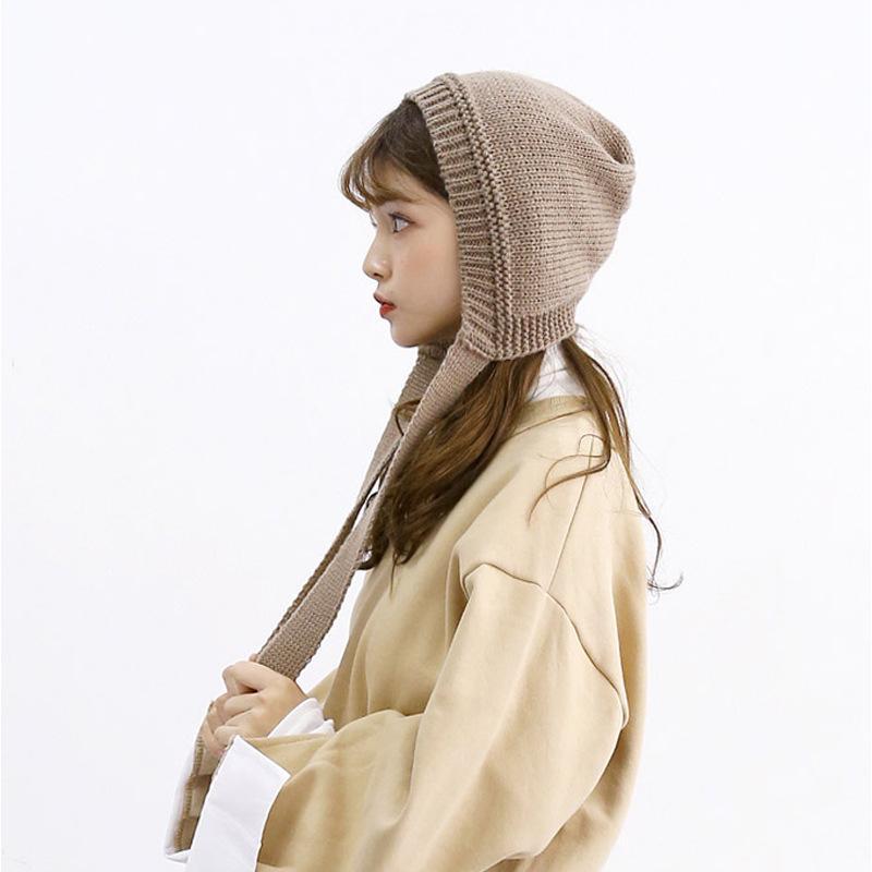 50ad879d47f Winter Keep Warm Wool Hat for Women Acrylic Adult Earmuffs Hats Ins ...