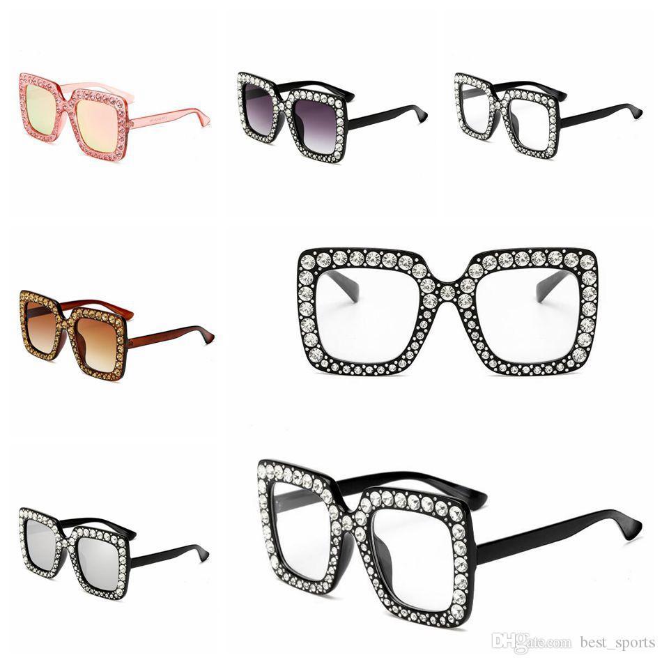 718a43bd53 Gafas De Sol Cuadradas De Diamantes Gafas De Sol De Cristal De Gran Tamaño  Gafas De Sol Gafas De Sol Ocean Piece Gafas Cuadradas De Mujeres Por  Best_sports, ...