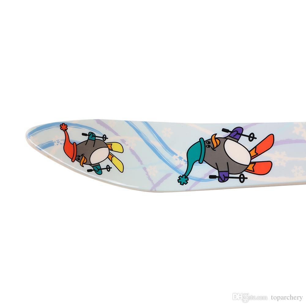 "25"" Youth Kids Ski Set Board Skiing Snowboard Bindings With Ski Pole Childrens Gift Outdoor Sports Tool"
