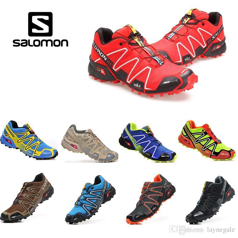 604aef4423e61b Acheter Pas Cher Vitesse Salomon Croix 3 Cs Iii Randonnée Chaussures Hommes  Chaussures De Ski De Fond Noir Argent Chaussures De Sport En Plein Air ...