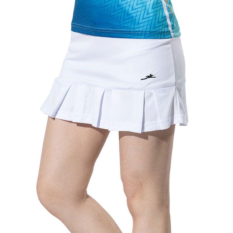 d5176f764a 2019 Ladies Pleated Tennis Skirt Jersey Miniskirt High Waist Sport Skort  Youth Badminton Sports Skirt White Solid Tennis Clothes From Monida, ...