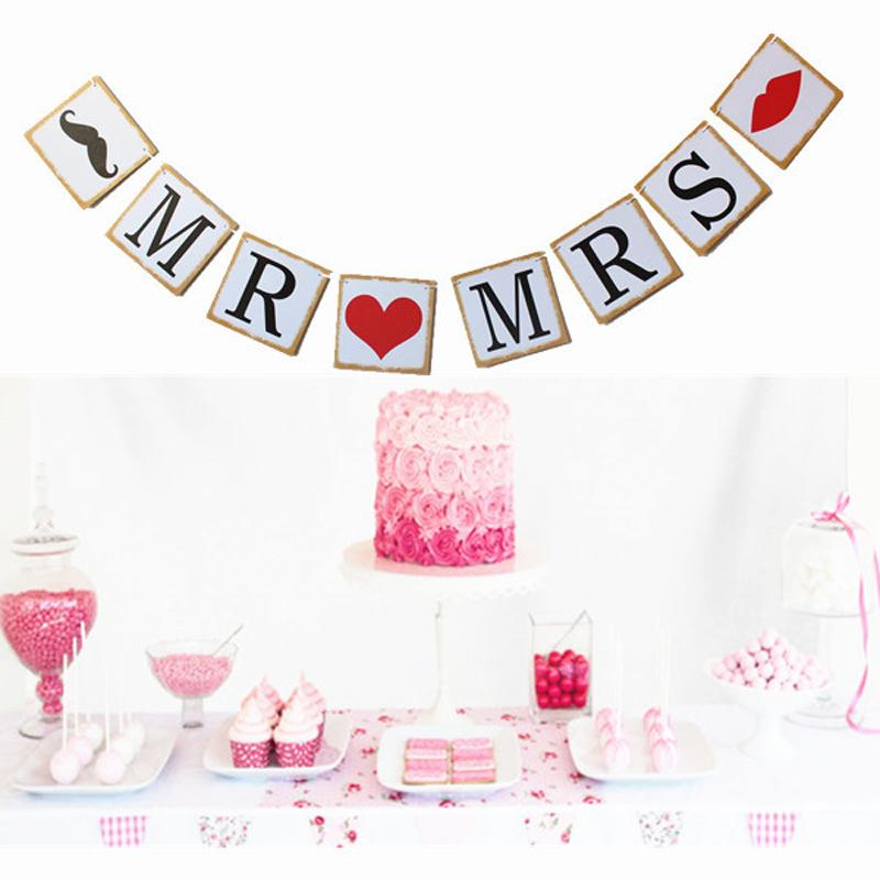 Wedding Engagement Party Backdrop Decoration Banner Mr Mrs Letter
