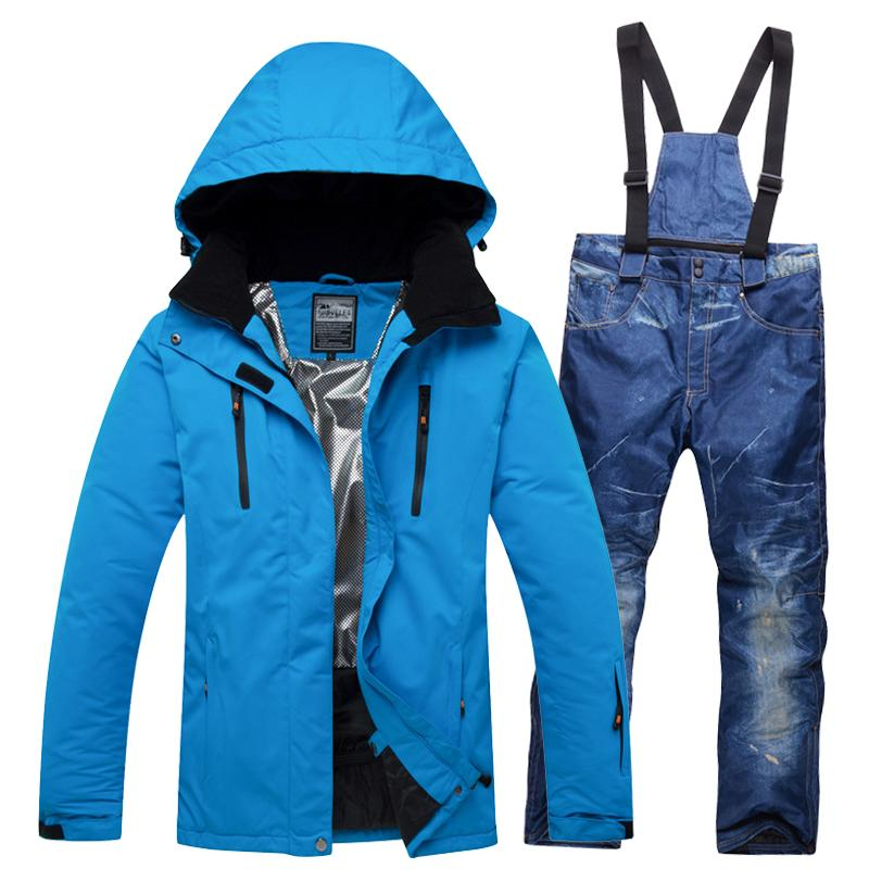 2019 Professional Men Ski Suits Snow Outfit For Men S Hooded Snowsuit  Jackets And Bib Pants Set Male Winter Ski Wear Clothes From Cbaoyu ccf4108a8