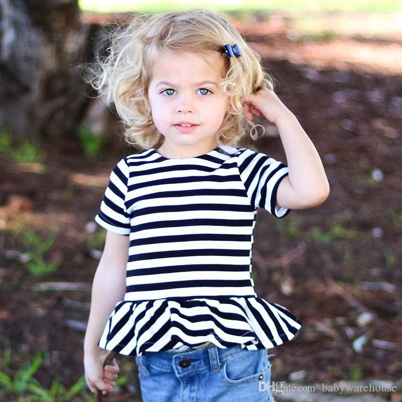 Cute Kids Clothing 2018 Summer Baby Girls Clothes T Shirts Tops Blouse  Boutique Infant Toddler Girls Tees Cotton Children Clothing 2 7Y UK 2019  From ... 21f31f8a5d