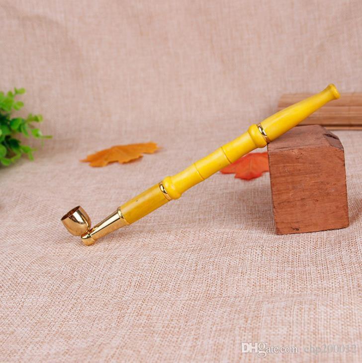 Nuovo stelo in legno massello rimovibile da tirante in metallo con tubo dritto doppio tabacco dritto
