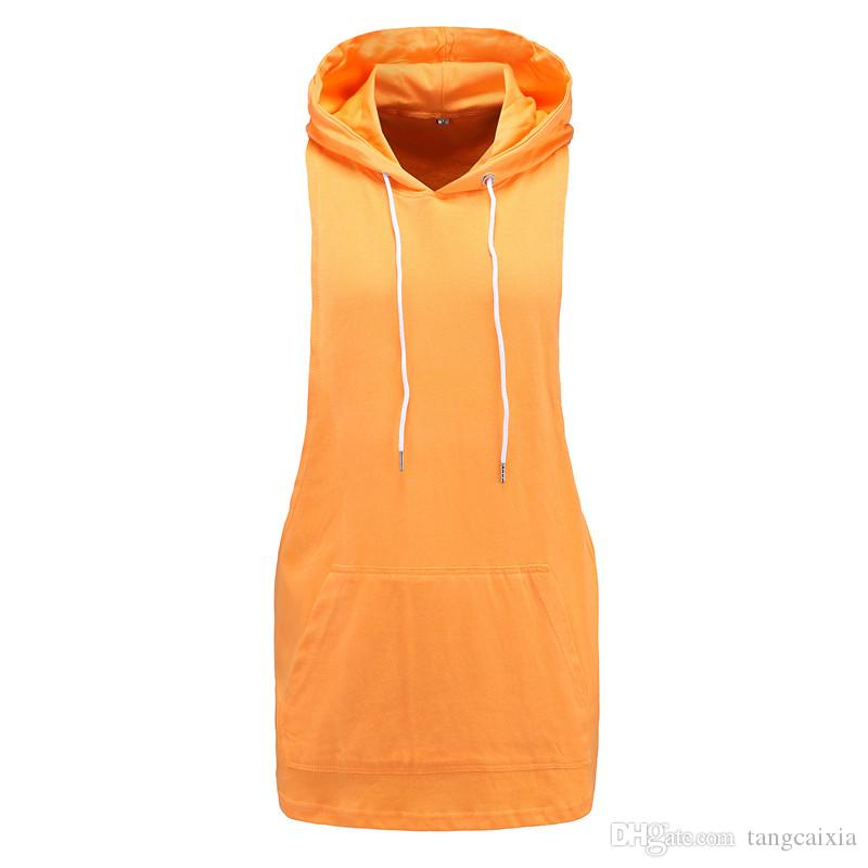 Wholesale Fashion Men Sleeveless Hoodies Fitness Shirt Blank Hoodie T shirt Cotton Muscle Hooded Tank Tops Size XL