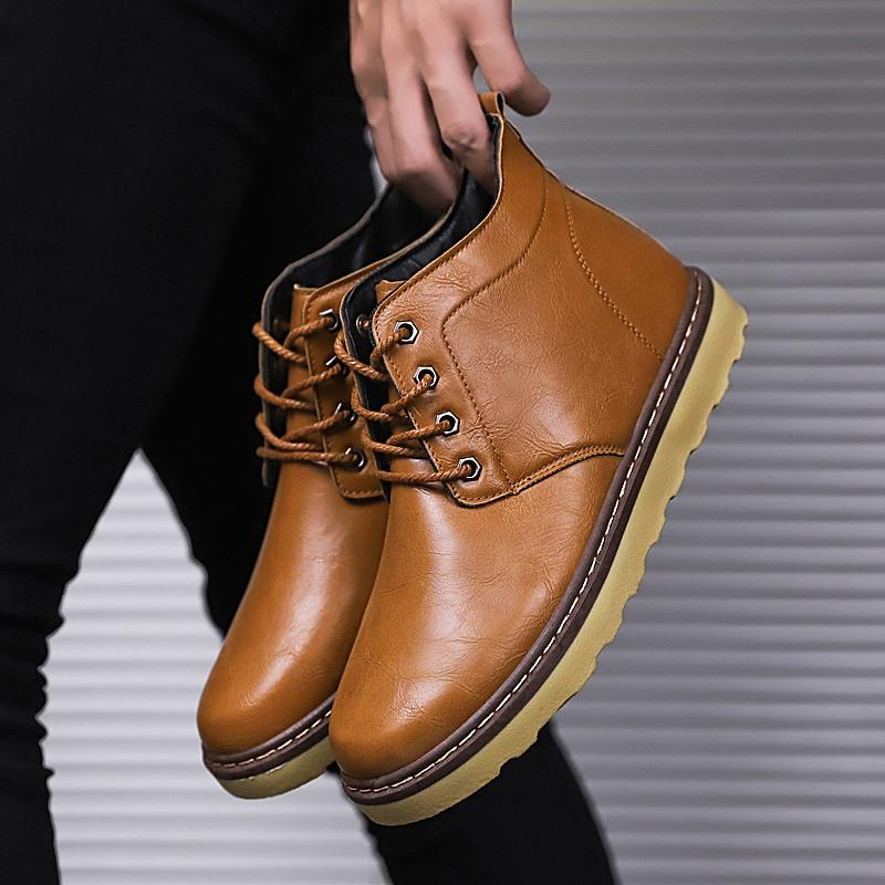 2019 Fashion Casual Work Shoes Men Comfortable Snow Boots Brand