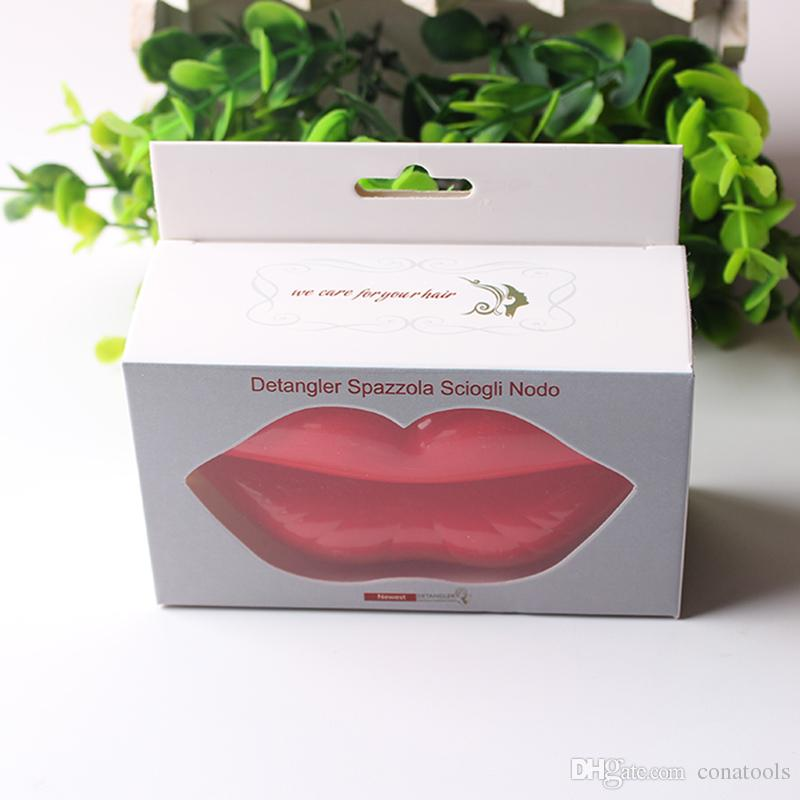 New Sexy Lips Woman Hair Comb With Mirror Easy To Carry For Travel Have Beautiful Packaging For Gift Salon Styling Comb