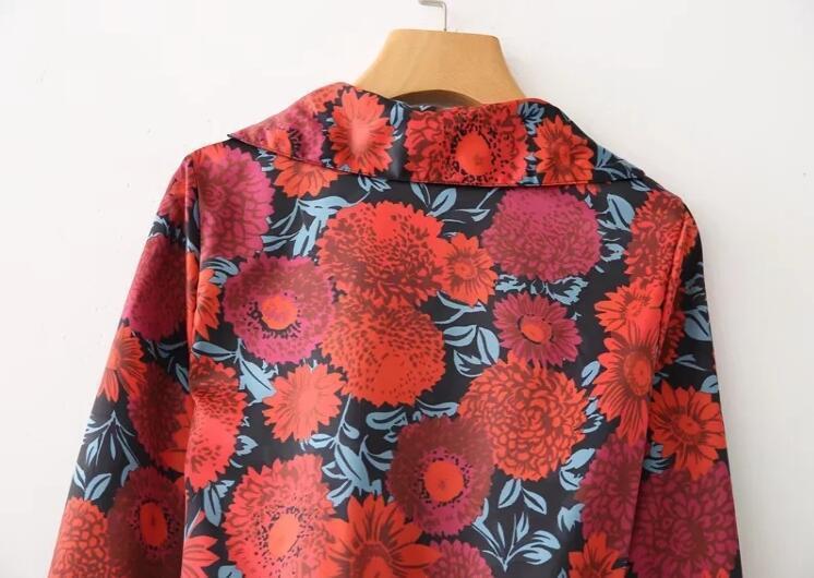 Ve 2018 of rüzgar bahar yeni kadın moda çiçek baskılı kruvaze Siyam ceket ücretsiz kargo