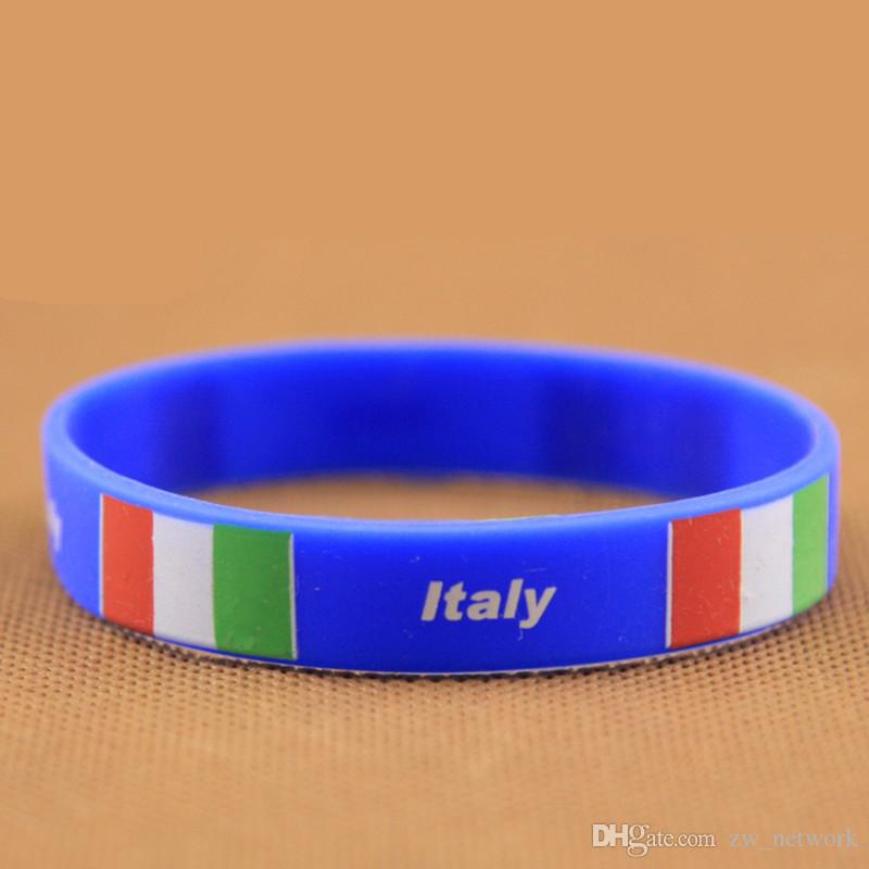 2018 Russia World Cup silicone bracelets with national flags sports Wristband Football Fans Silicone Bracelet Souvenir Gift