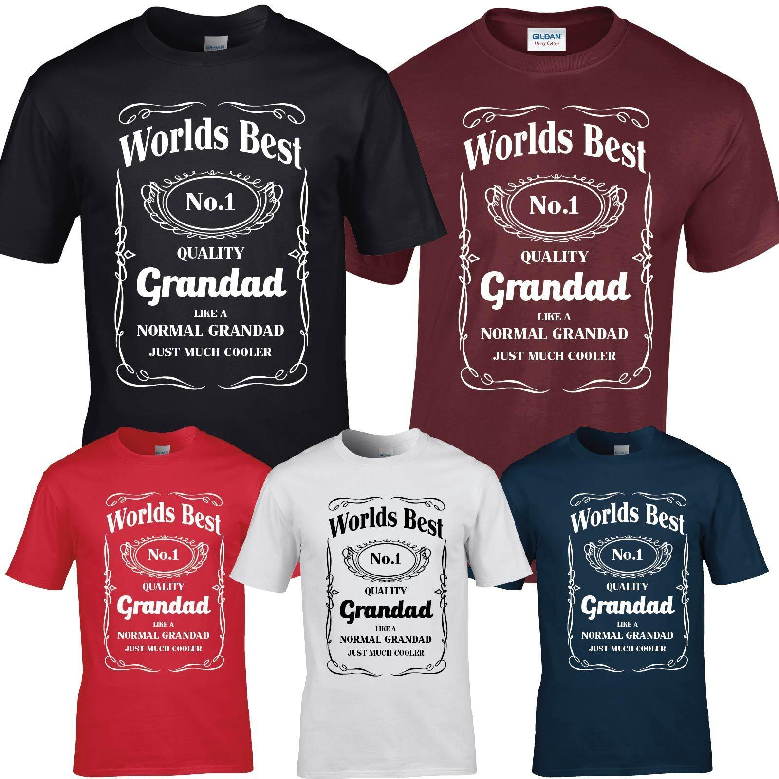 e6d9b069e Acheter Numéro 1 Grandad Grandpa Dad T Shirt Anniversaire Cadeau Cadeau  Présent Tee Funny Drôle Livraison Gratuite Unisexe Casual T Shirt Cadeau De  $10.28 ...
