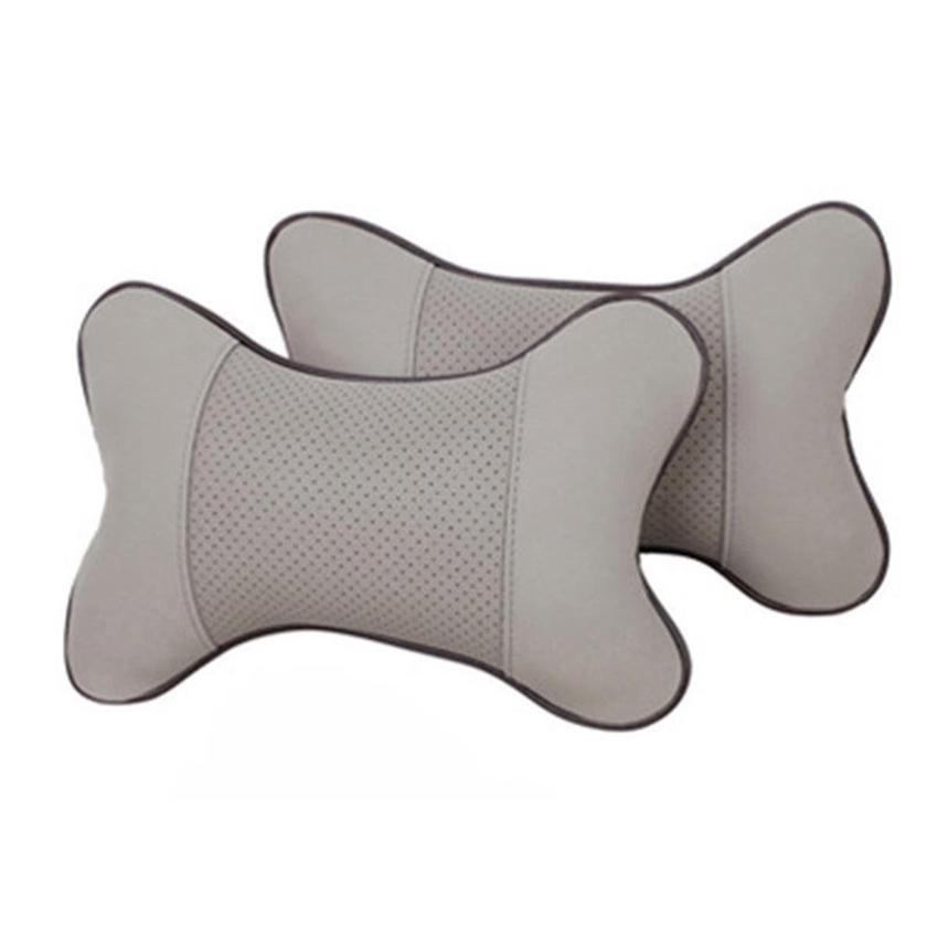 Almohada Resto del Cuello del coche Almohada Artificial de Cuero Artificial Reposacabezas Suave Almohada de Asiento de Seguridad Interior del Cuello Accesorios GGA166 40 unids