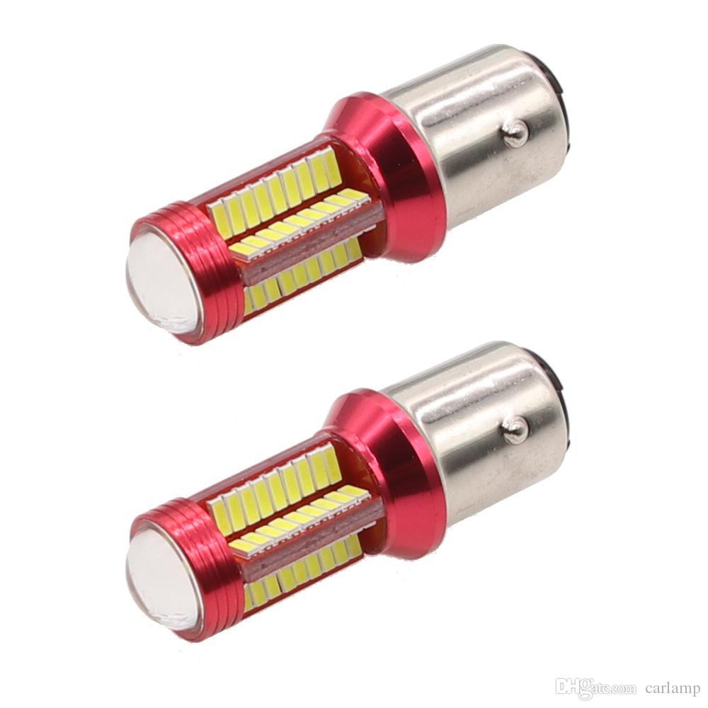 1156 BA15S 1157 BAY15D 280MA 78SMD 4014 Lens LED light 78SMD reverse turn signal brake light Lamp White 12V