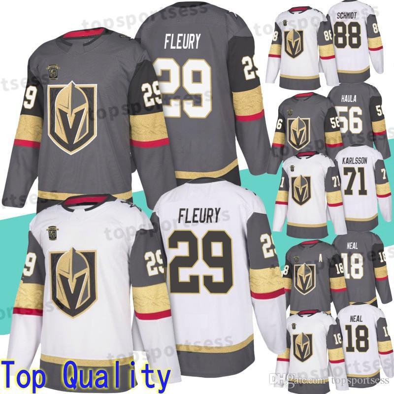 2019 Vegas Golden Knights 29 Marc-Andre Fleury Jersey 18 James Neal ... 55908a77893