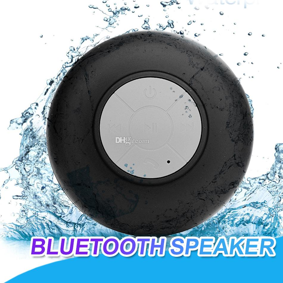 Mini Portable Waterproof Wireless Bluetooth Speaker Subwoofer Shower Car Handsfree Receive Call Music Suction Mic With Retail Package