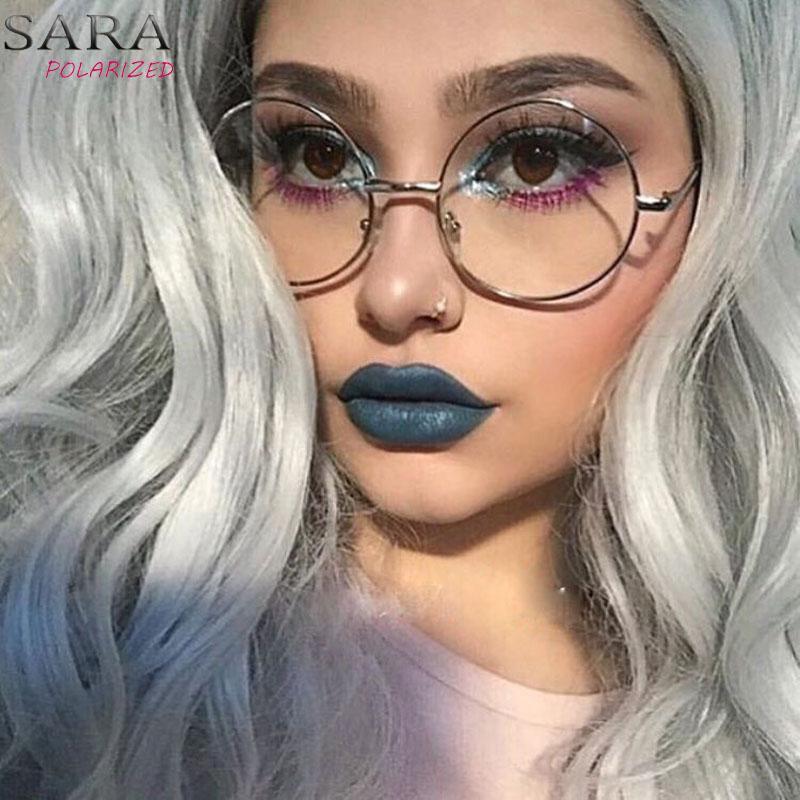 13d7596e578 2019 SARA Retro Round Eyewear Clear Glasses Spectacles Optical Eye Glasses  Frames For Women Transparent Eyeglasses Frame Fake From Gocan