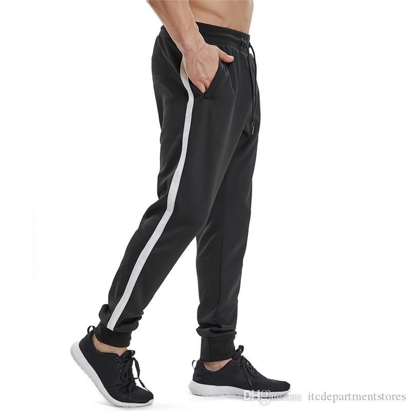78121d2e6e4 2019 Mens Athletic Pants Casual Hip Hop Trousers Side Stripe Zipper Pocket  Fitness Sweatpants For Men Jogger Camouflage Pants Men From  Itcdepartmentstores