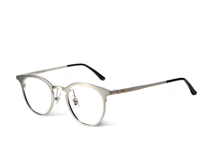 30a533fea11bb Compre Nova Moda Redonda De Metal Planície Prescrição Óculos Vintage Gentil  Marca De Design De Óculos De Leitura Quadro Eyewear Oculos De Grau Com  Caixa De ...