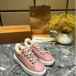 WOMEN FUR LACE UP FLAT TIME OUT SNEAKER TRAINER SHOES pink Women Pumps Loafers Ballerina Flats Espadrilles Wedges Sneakers Boots Booties