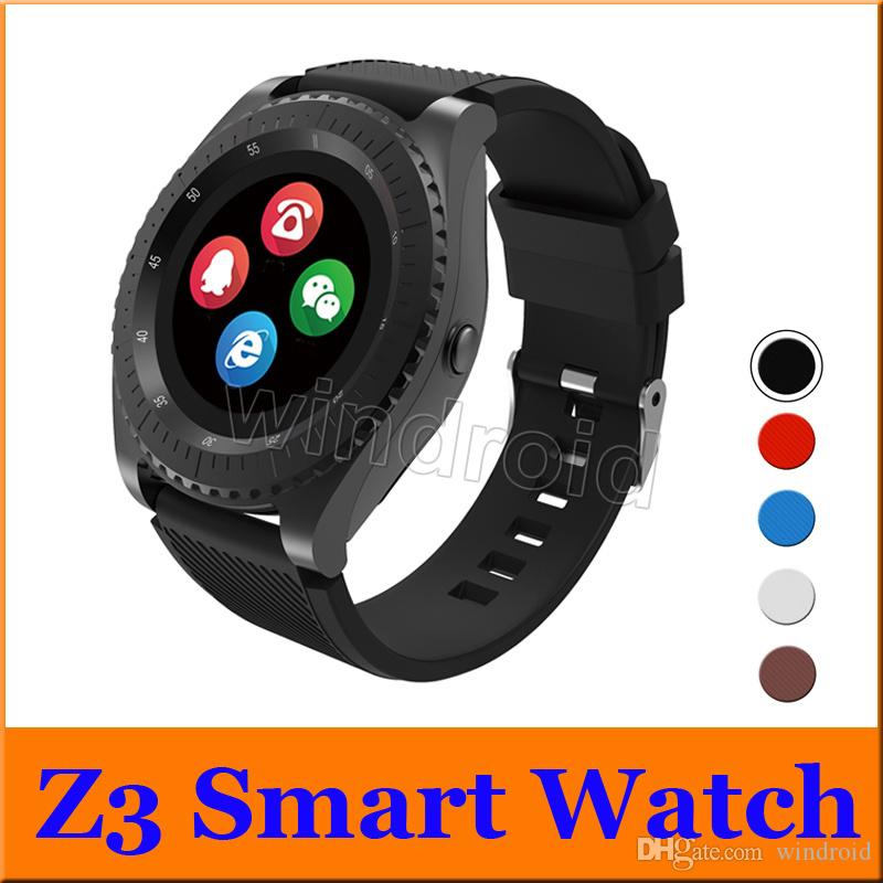 Z3 Smart Watch Bluetooth Wearable Sports Mini Camera Support GSM SIM  Unlocked Touch Screen For Android iPhone Smart Phones Wristwatch cheap
