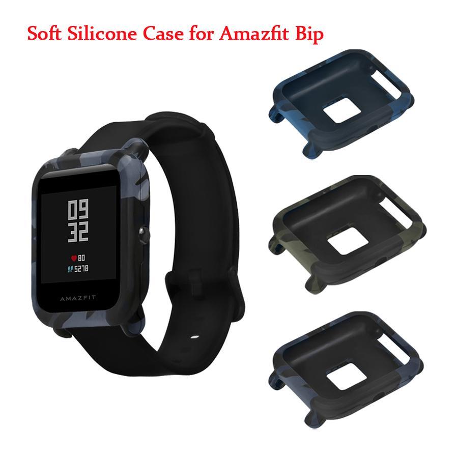 f72a12ce2e38 Compre Funda Protectora Para Xiaomi Amazfit Bip Reloj Juvenil De Silicona  Suave Shell Para Amazfit Bit Cover Frame Protector De Pantalla Accesorios A   35.48 ...