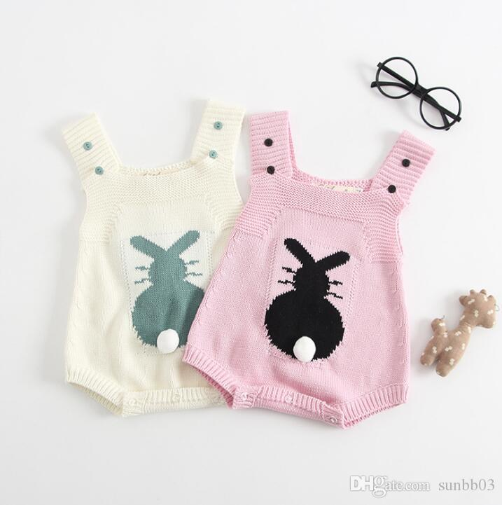 d83abdea66fd 2019 2018 Autumn Infant Baby Girl Knitted Rompers Kids Toddlers ...