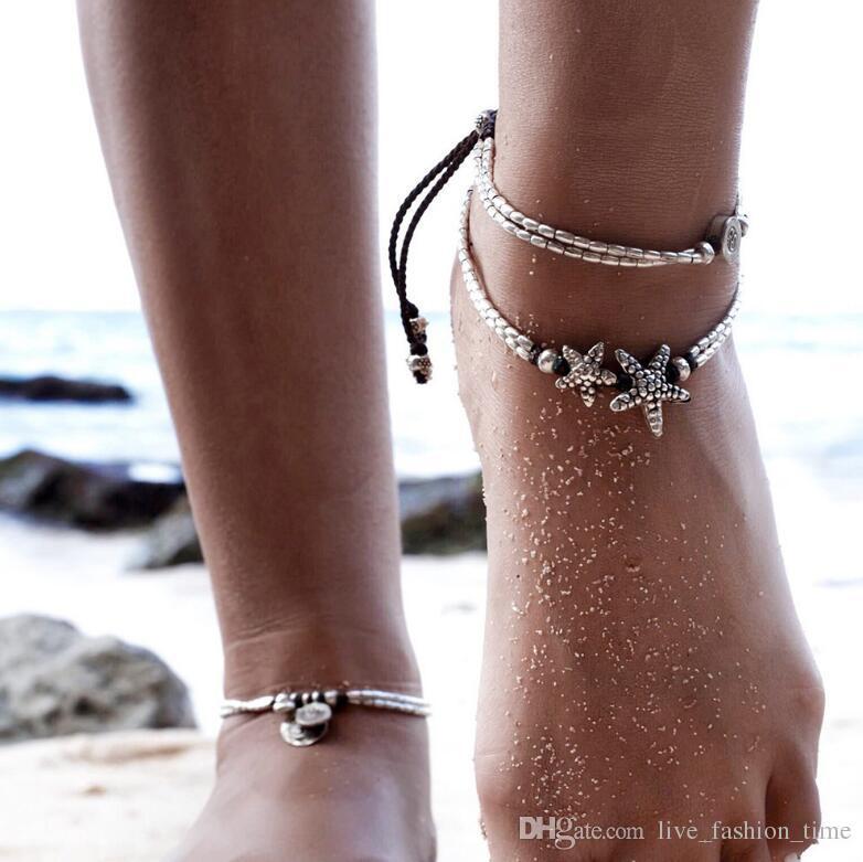 Nus Pied Bracelet Perlé Bijoux Chaîne Femme Design Vintage Pour Sandale Starfish Plage Pieds Aaa29 Cheville Femmes 80kPnwOX
