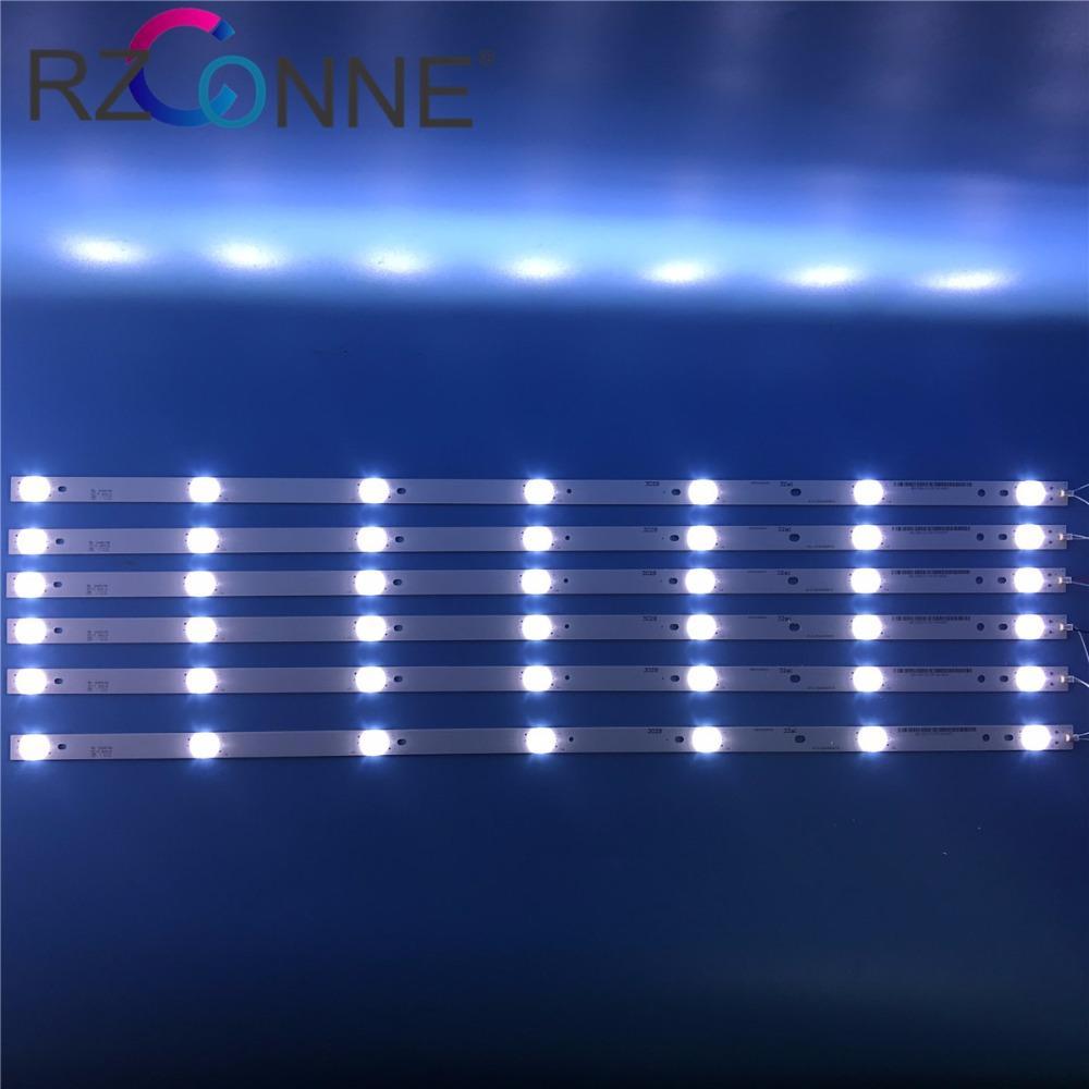 For Backlight 7leds Kit 21v Strip Lens Lamps 693mm Fliter Tv W Board 6pcs Led Billboard Optical Lcd Input HeWEDY29I