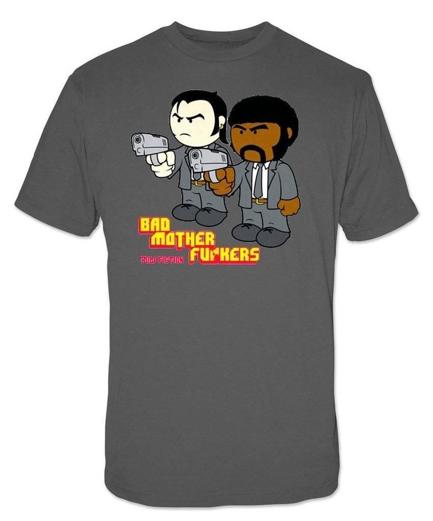db5de582c Details Zu Pulp Fiction Bad Mother F**kers Charcoal Gray Adult T Shirt Tee  Unisex Funny Gift Casual Tee Order Tee Shirts T Shirt With Design From ...