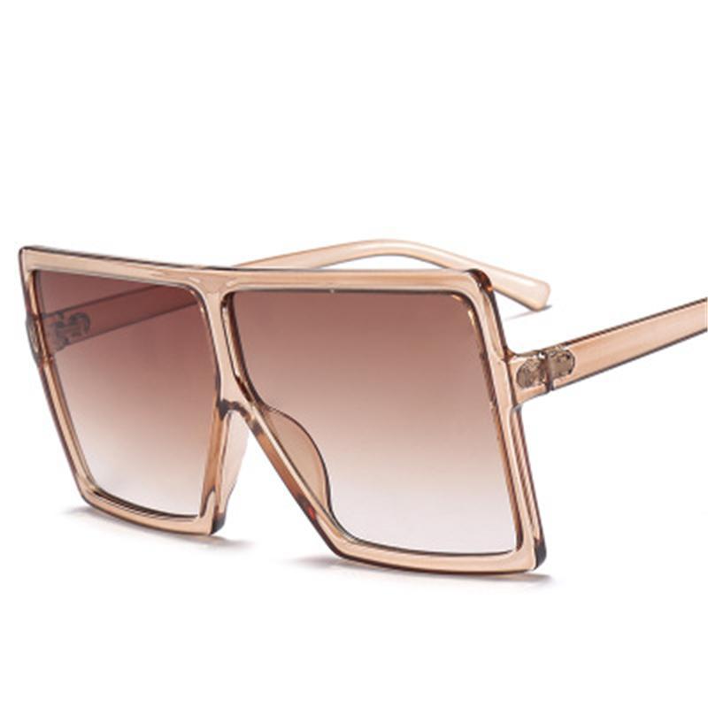 f3b117d27593c Compre 2018 Óculos De Sol Das Mulheres Designer De Marca Big Frame Quadrado  Óculos De Sol Do Vintage De Grandes Dimensões Óculos De Sol De Viagem  Senhoras ...