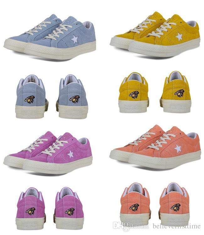 e1610d44c10a Online Cheap Ttc One Star X Golf Le Fleur Suede Tyler The Creator Yellow  Blue Purple Pink Women Men Casual Designer Fur Canvas Running Casual  Sneakers By ...
