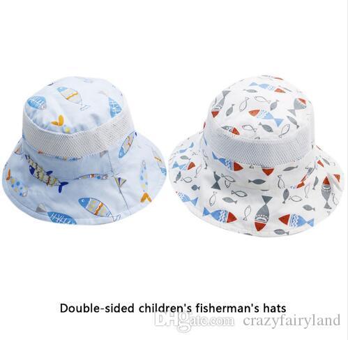 1a00ff127a3 Double Side Wear Bucket Cap 2018 Summer Baby Toddler Infant Girl Cap ...
