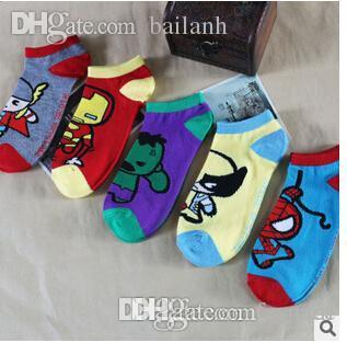 0f3b2790fbf95 Wholesale-The new K series Spider-Man 2016 Man Personalized Cartoon Socks