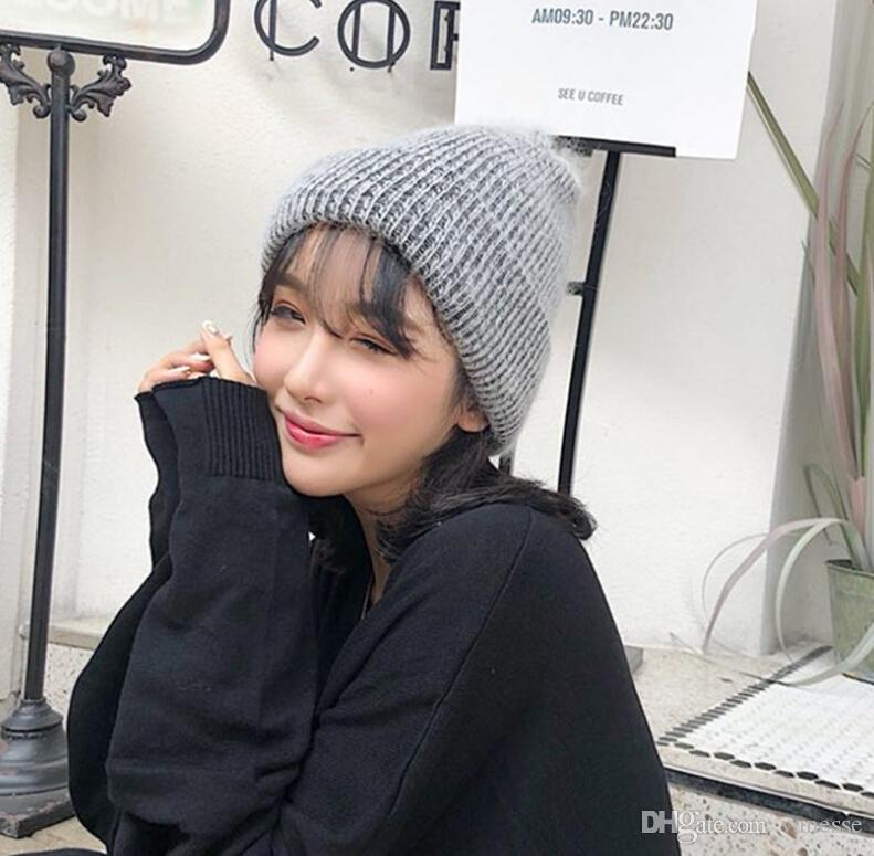 1ce4276b Hat Autumn And Winter Women's Retro Curling Earmuffs Knit Hat Double Thick Warm  Hat Hat Knit Hat Warm Hat Online with $35.01/Piece on Vanesse's Store ...