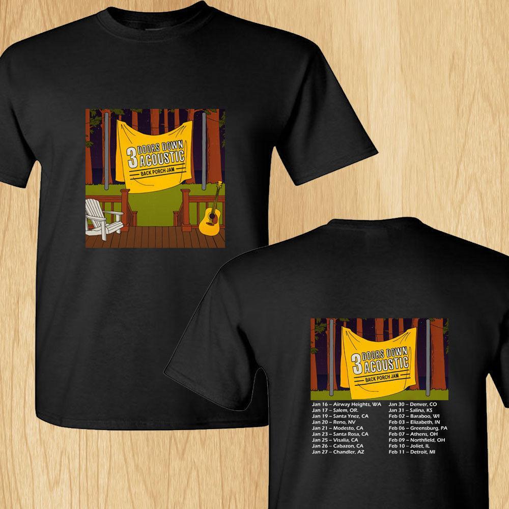 Create Custom T Shirts Comfort Soft 3 Door Down Acoustic Back Crew